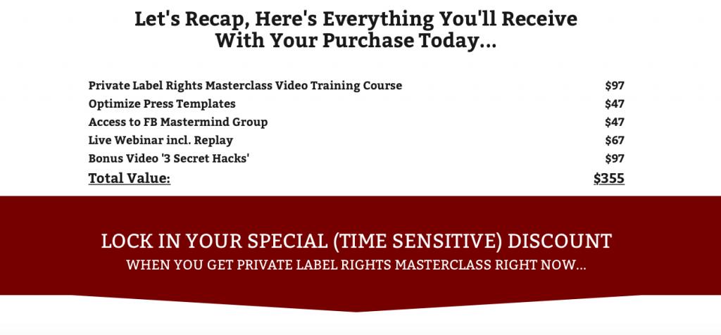 Private Label Rights Masterclass